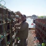Tying On Lobster Traps - Cabot Fishermen's Co-op Association, PEI, Canada